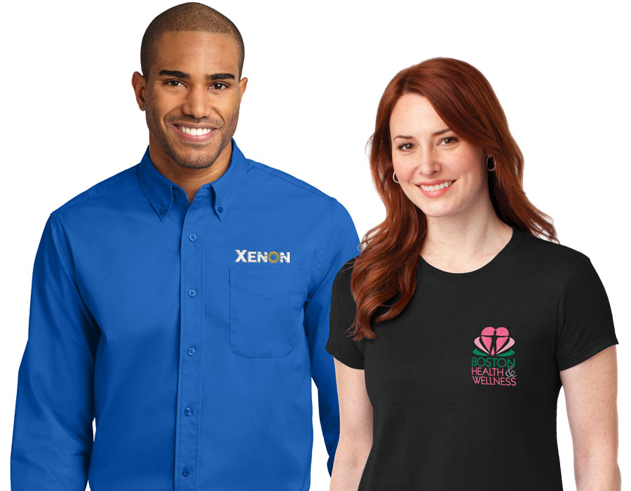 Branded company logo apparel like tee shirts, hats and hoodies